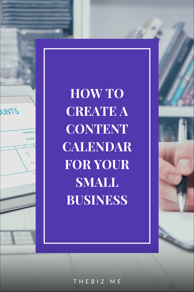 how to create a content calendar for small businesses
