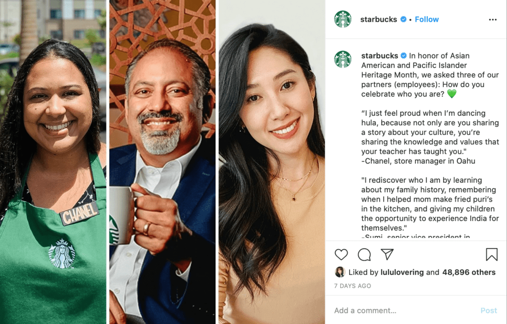 social media post ideas starbucks