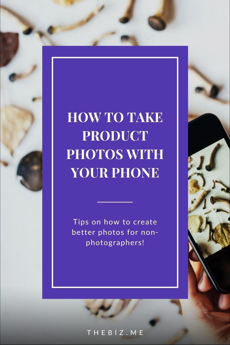 how to take product photos with your phone