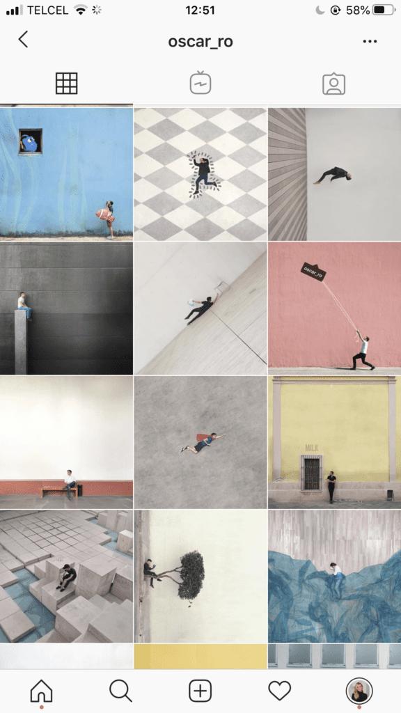 organize instagram feed minimalist