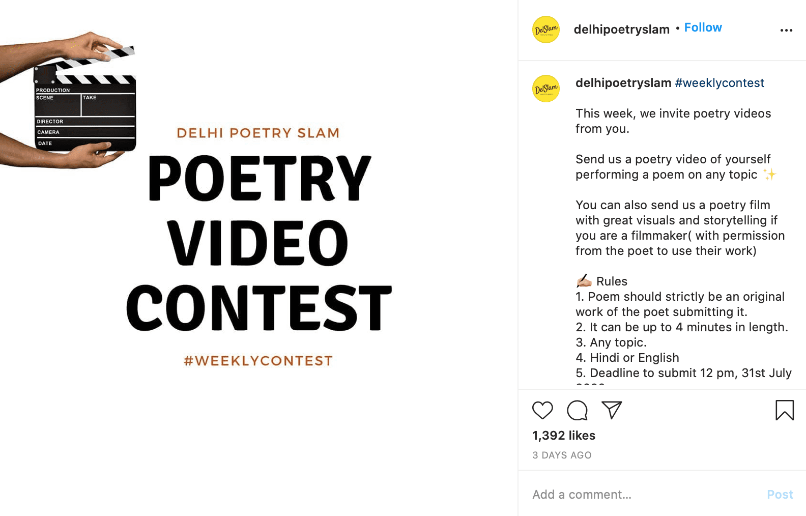 Instagram Giveaway Ideas video contest instagram