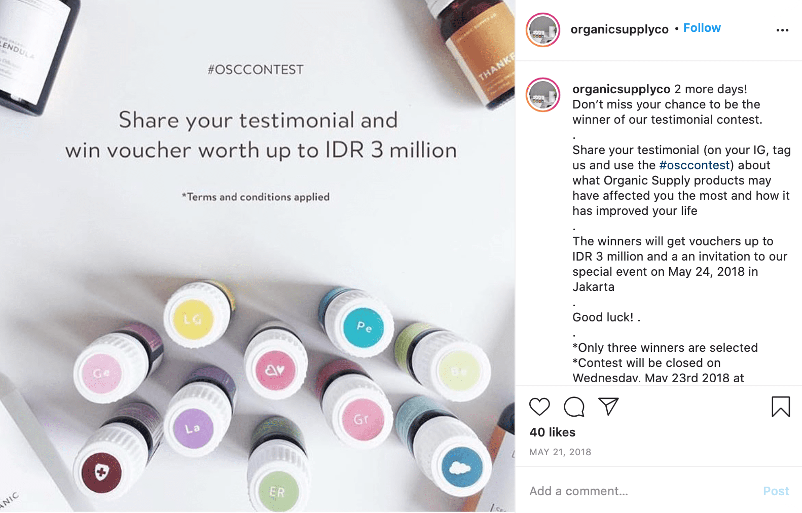Instagram Giveaway Ideas testimonial contest