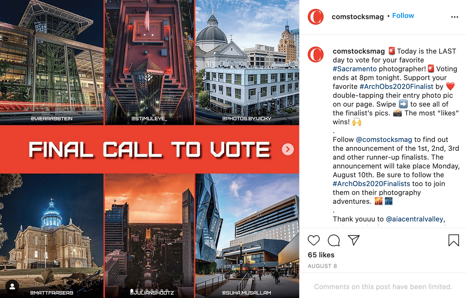 voting contest
