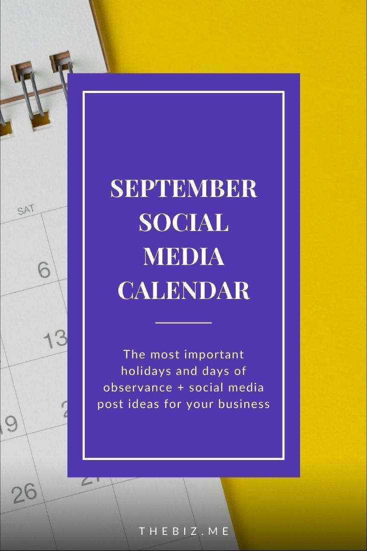 september social media calendar holidays and days of observance