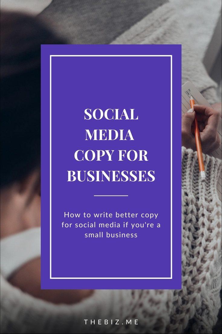 social media copy for small businesses