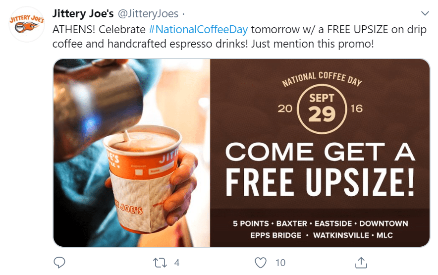 September Holidays and Days of Observance coffee day