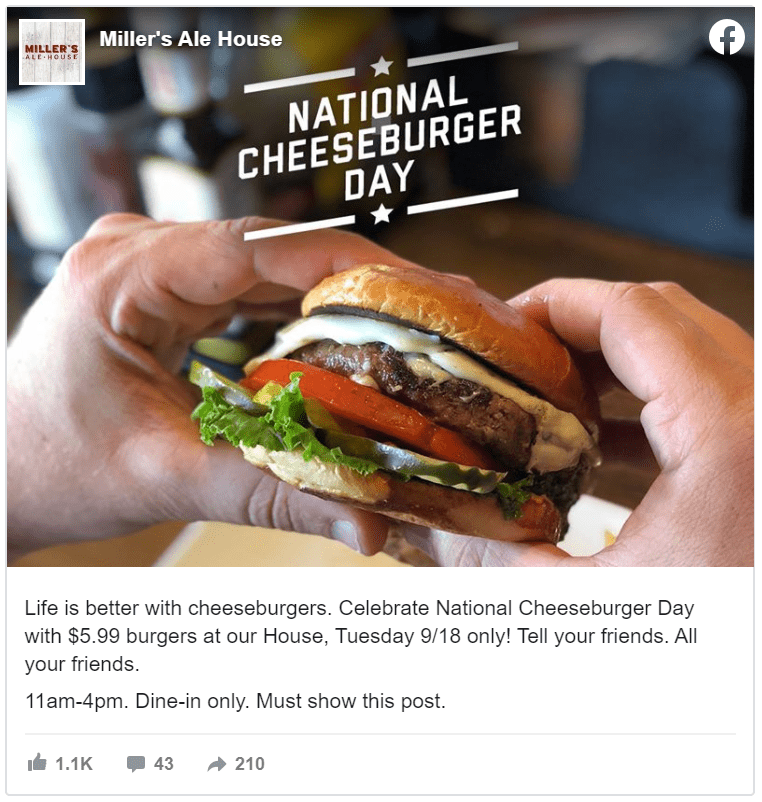 September Holidays and Days of Observance cheeseburger day