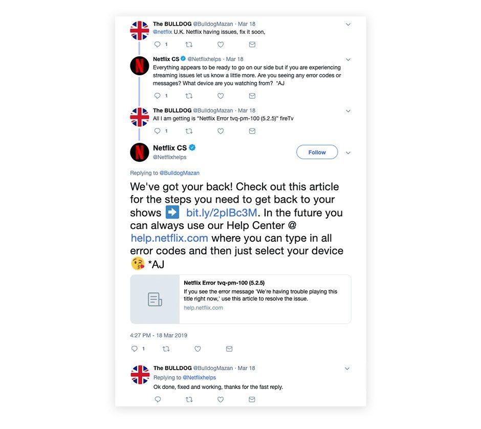 Customer Service on Social Media Netflix