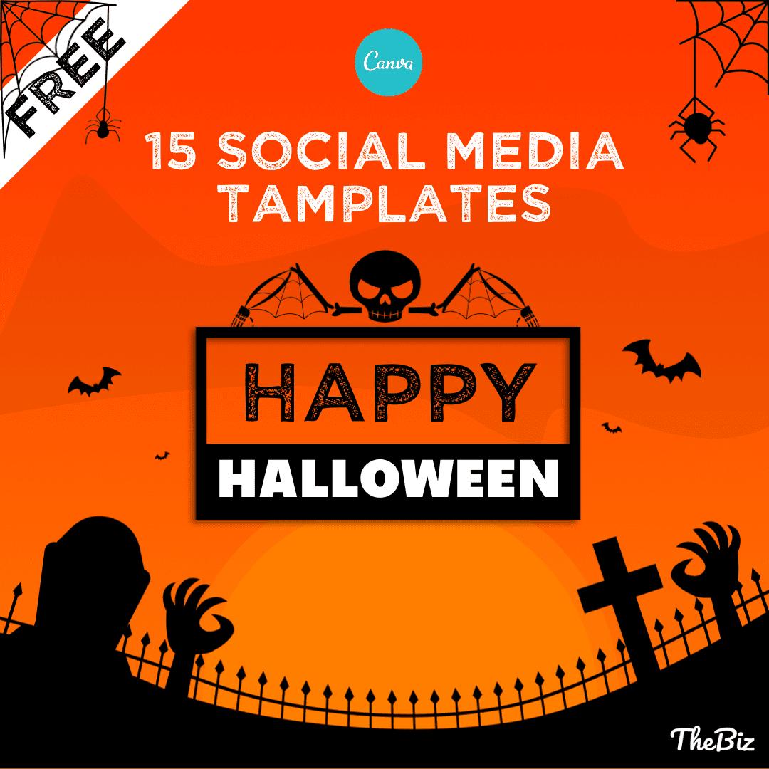 Halloween social media templates - promo banner