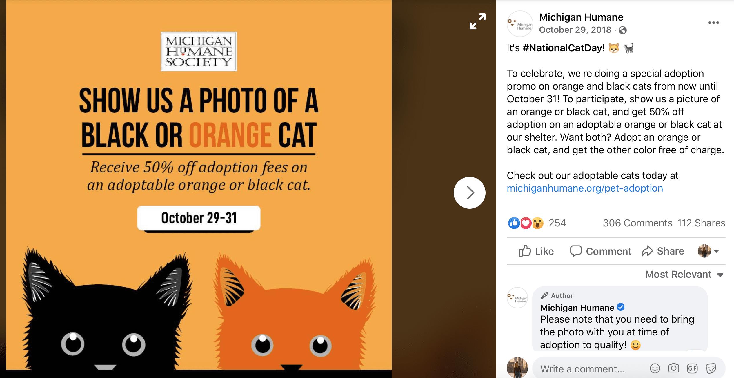 October Social Media Calendar National Cat Day