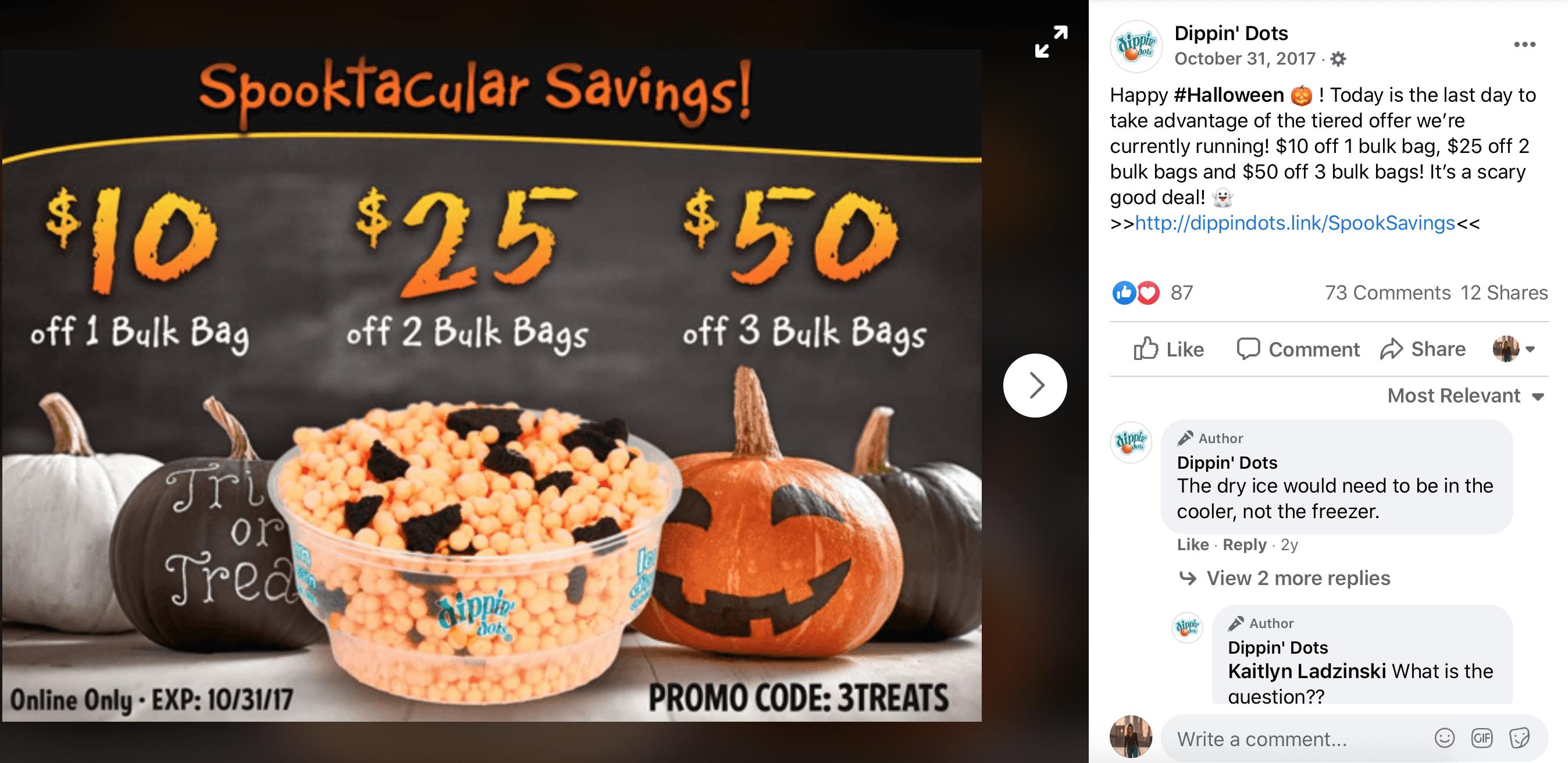 October Social Media Calendar Halloween
