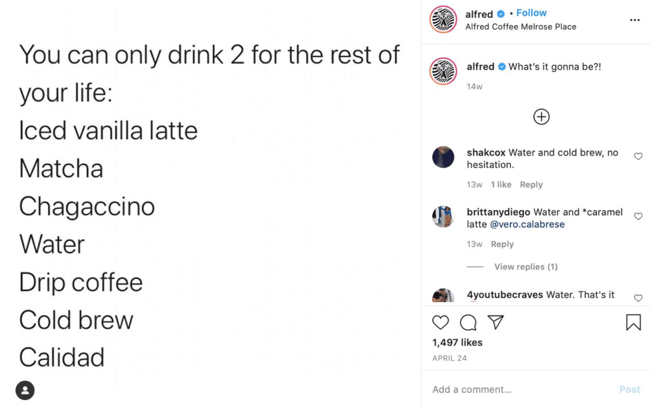 Best Coffee Shop Instagram Accounts alfred coffee shop