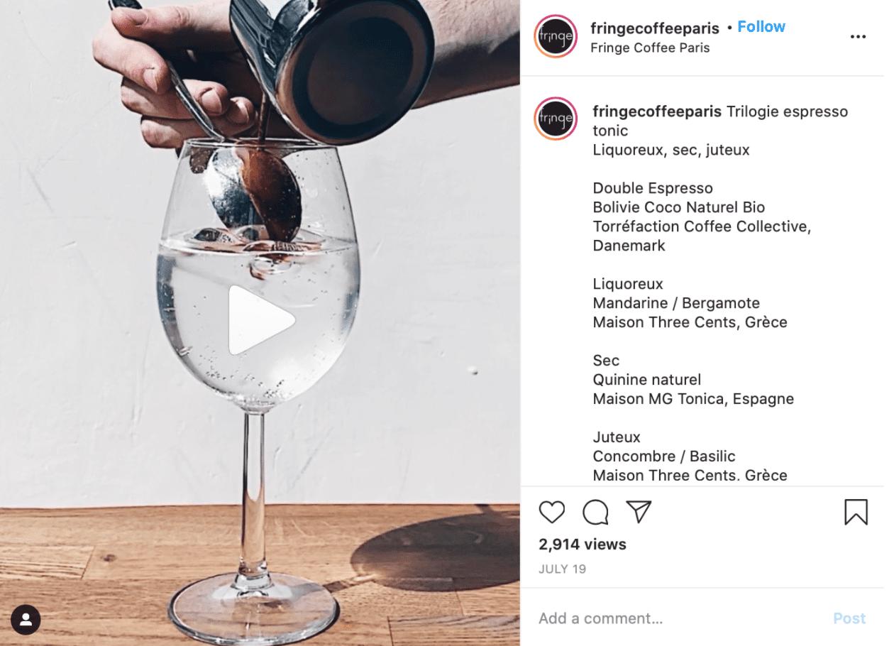 Best Coffee Shop Instagram Accounts Fringe Coffee Paris