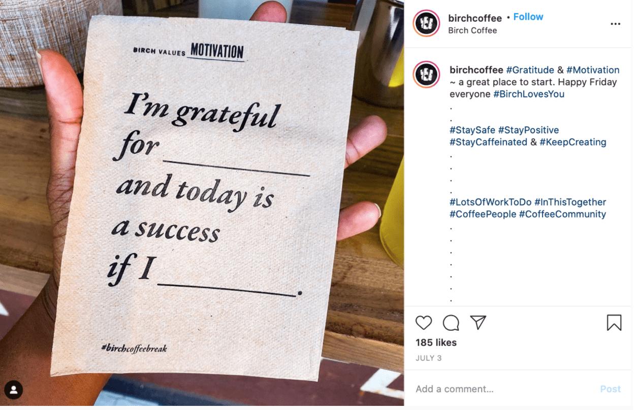 Best Coffee Shop Instagram Accounts Birch Coffee