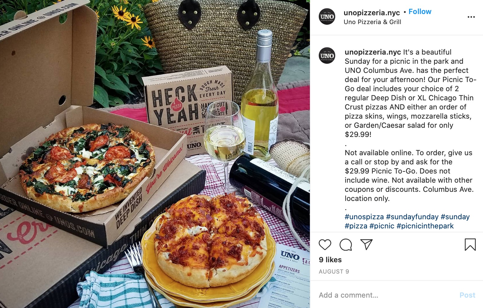 best pizzeria instagram posts uno pizzeria nyc