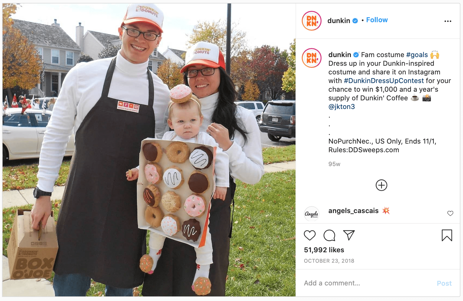 Halloween Marketing contest example post ideas for social media