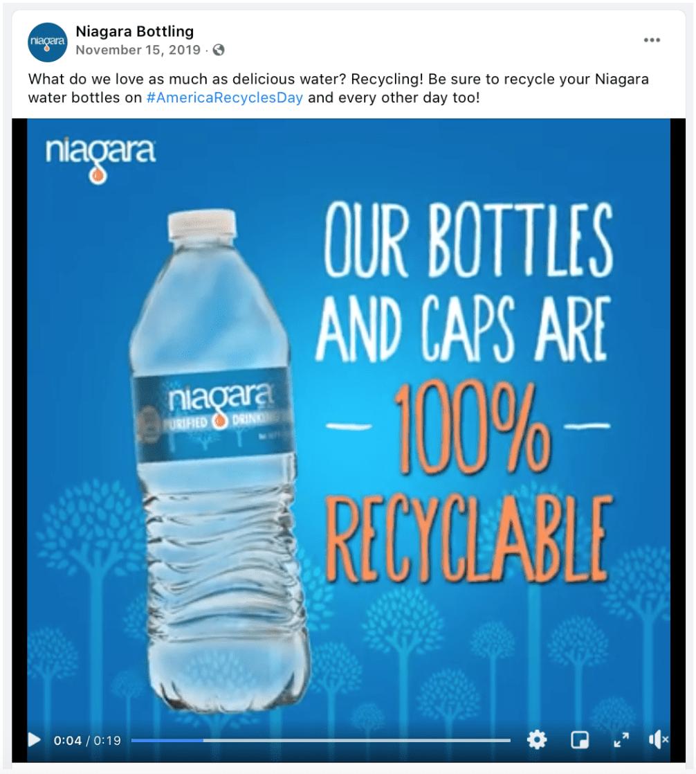 November social media calendar america recycles