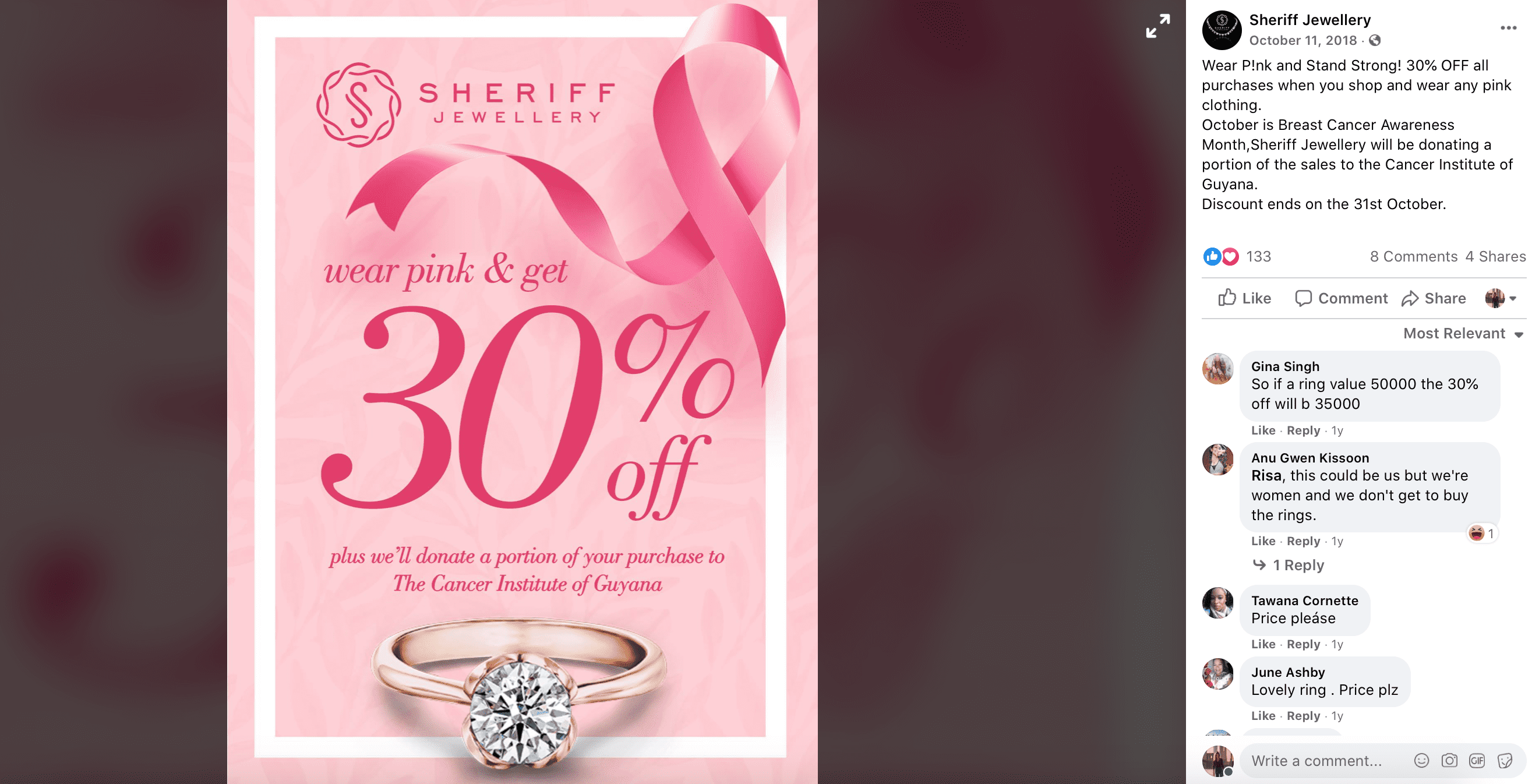 breast cancer awareness marketing post ideas