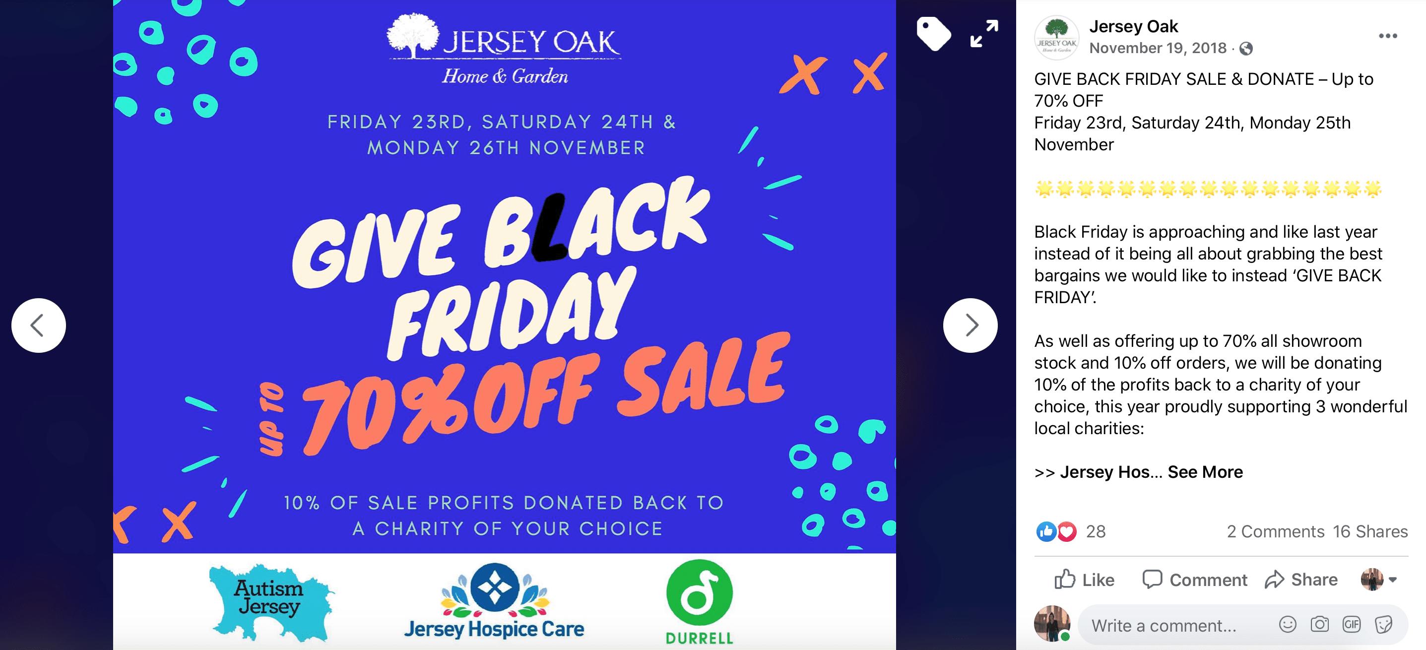 Black Friday Marketing donation