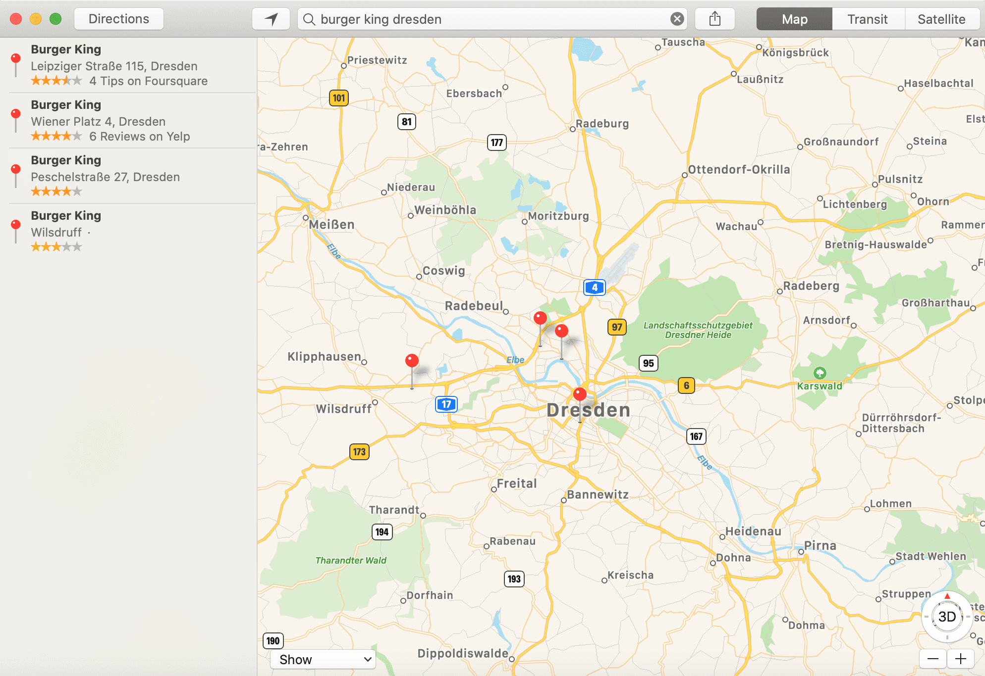 business listing websites in the USA Apple maps
