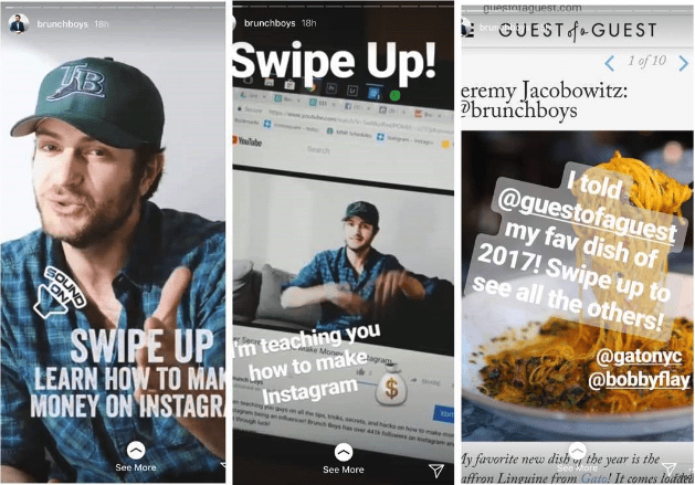 Instagram Stories for Businesses swipe up link