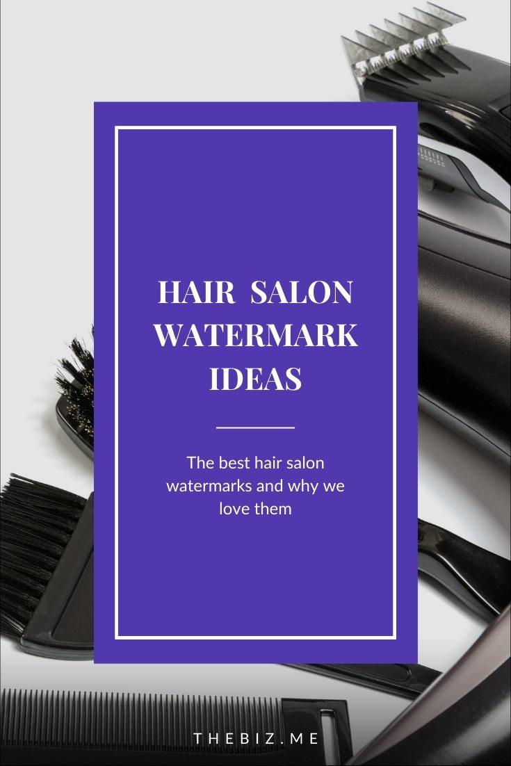 hair salon watermark ideas