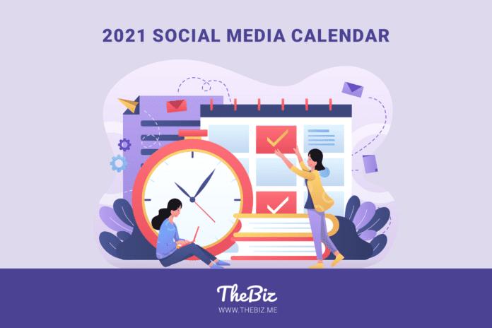 2021 Social Media Calendar