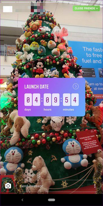 christmas marketing ideas instagram countdown