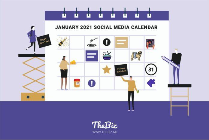 january social media calendar