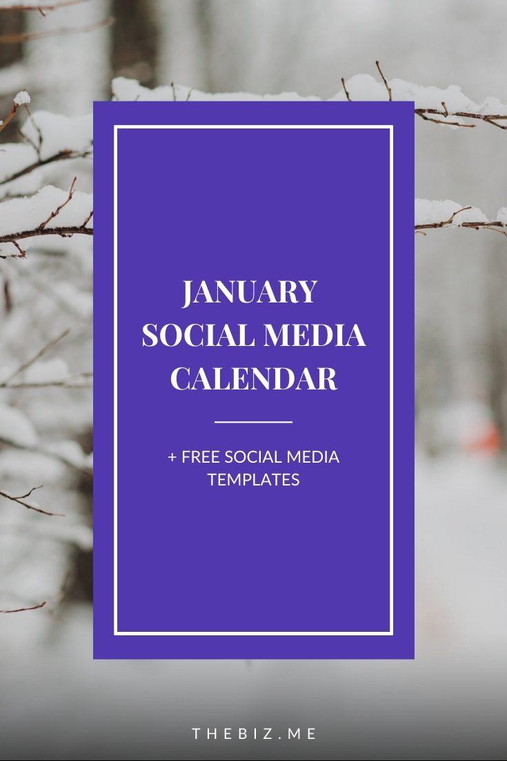 january social media calendar free social media templates