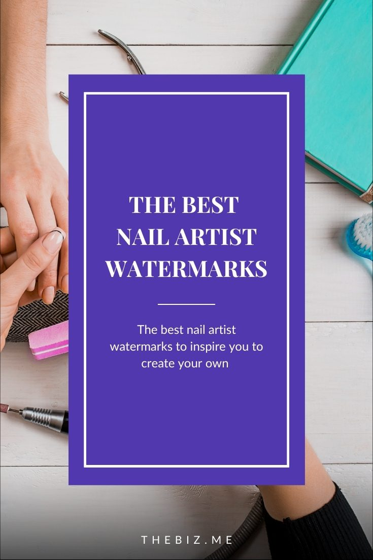 nail artist watermark ideas