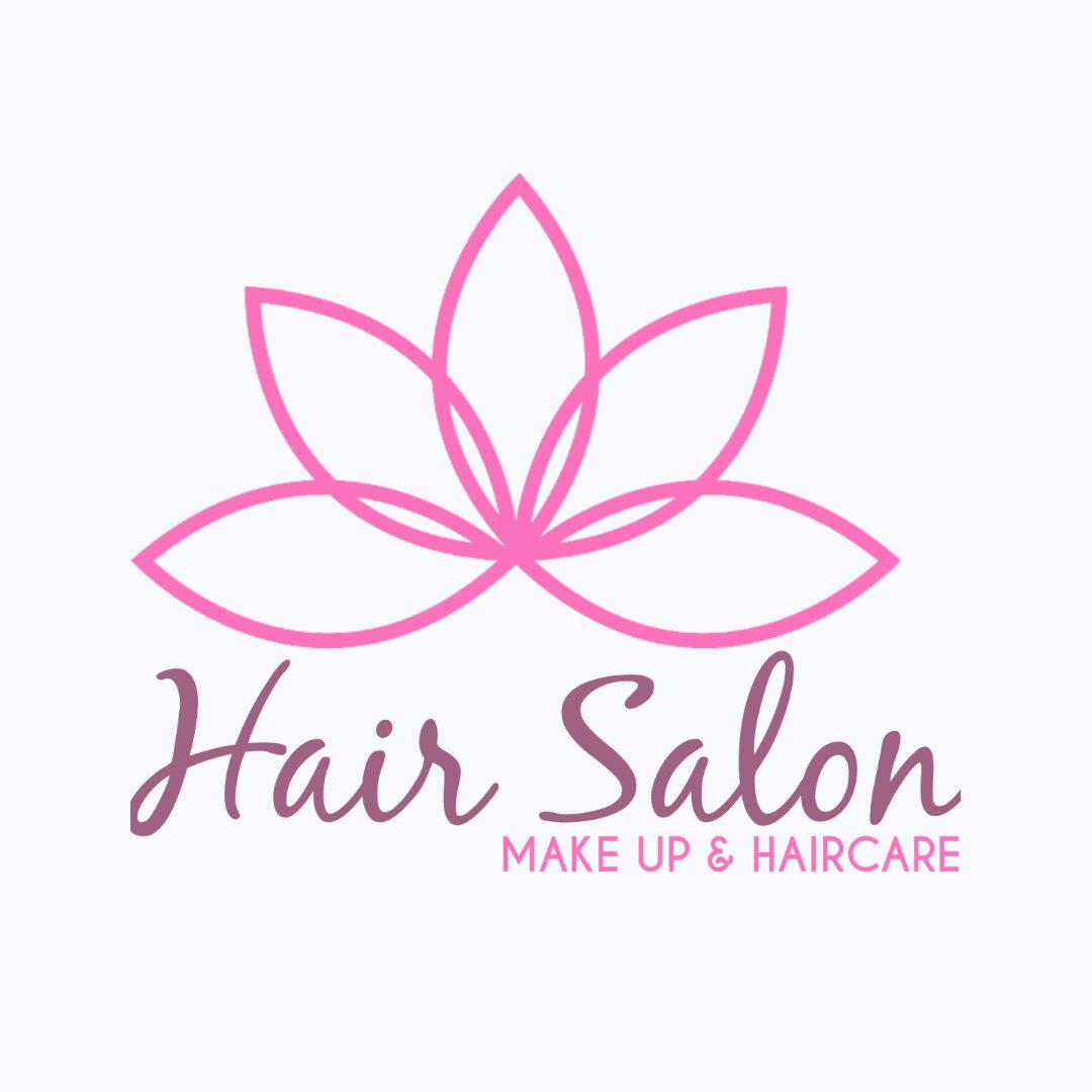 peaceful hair salon logo ideas