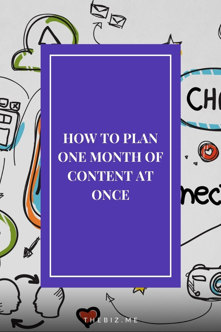 how to plan one month of social media content at once