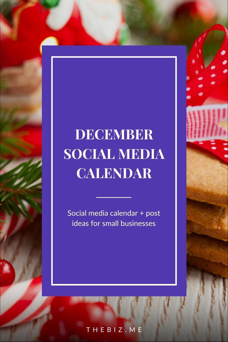 december social media calendar post ideas free templates