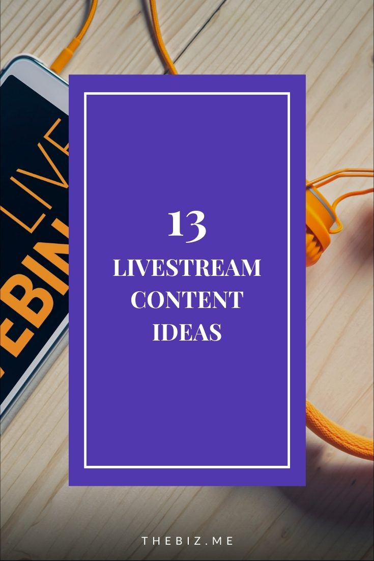 live stream content ideas for small businesses