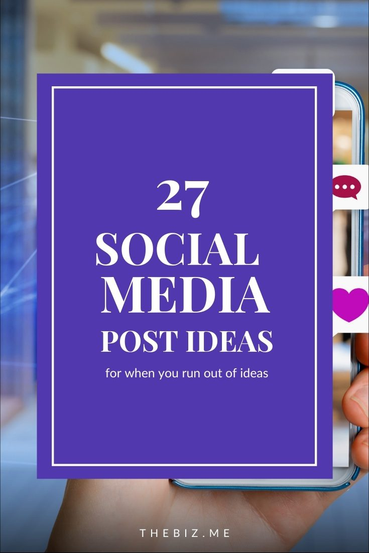 social media post ideas when you run out of ideas
