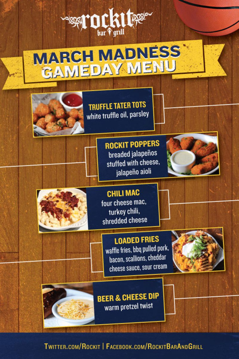 march madness social media post special menu