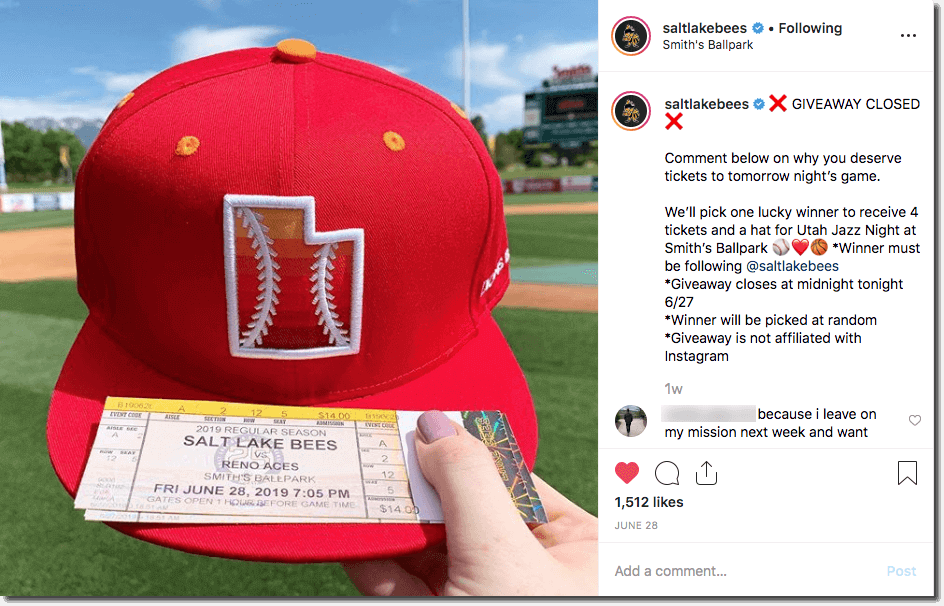 baseball marketing ideas giveaway