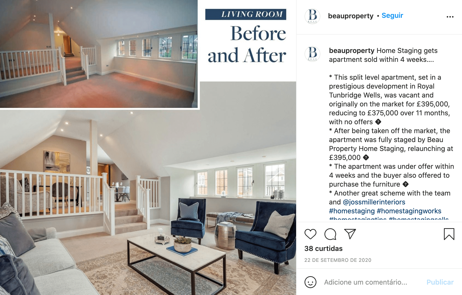 post ideas for interior designers before and after