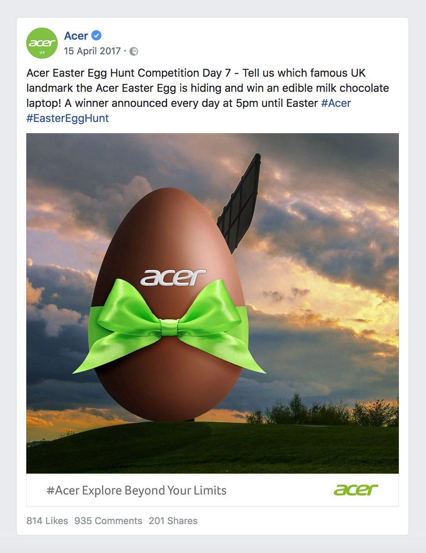 april social media calendar easter egg hunt